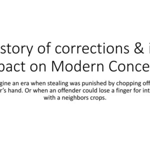 Comparison between past history of corrections and current corrections of today